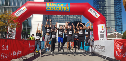 CAD-Agentur Lehmann beim Benefizlauf Run of Colours in Köln 2019