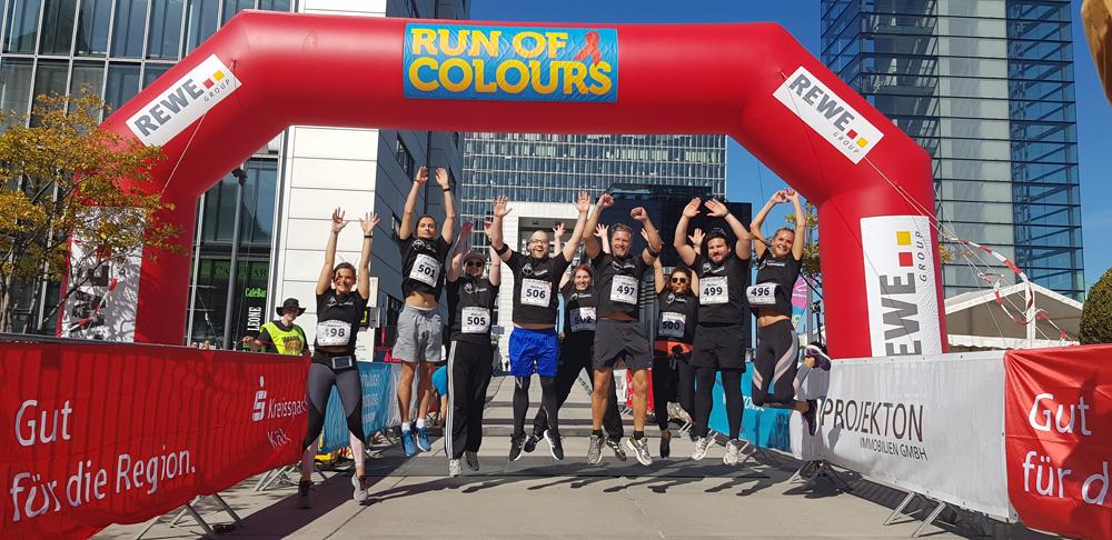 CAD-Agentur Lehmann beim Benefizlauf Run of Colours in Köln 2019