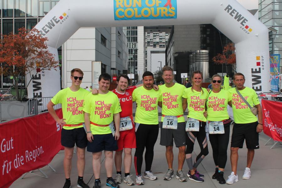 CAD-Agentur Lehmann beim Benefizlauf Run of Colours